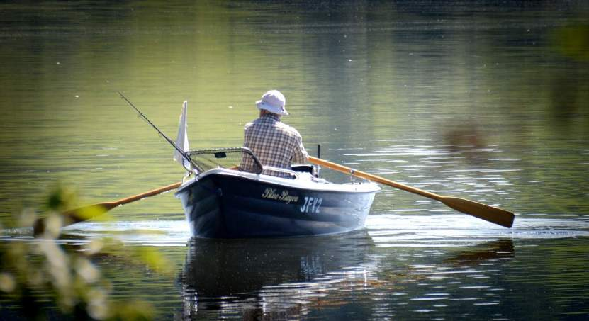 Ein Bild von einem Ruderboot
